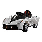 Homcom Children Kids Electric Ride on Car Battery Operated Toy Car w/ Remote Control (White)