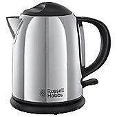 Russell Hobbs Compact Jug Kettle, 1L - Polished Stainless Steel
