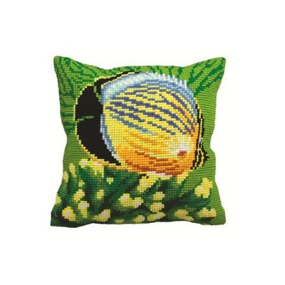 Collection D Art Exotic Fish Blue Cushion Kit