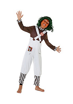 Willy Wonka and the Chocolate Factory Oompa Loompa Fancy Dress Costume - Multi