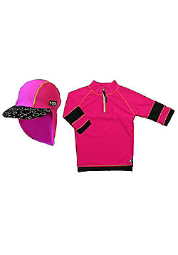 Swimpy UV Shirt and Sun Hat Pink 4 to 6 Years