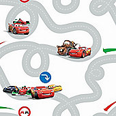 Disney Cars Racetrack Grey Wallpaper