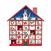 Premier Wooden Advent Calendar House