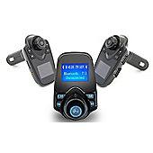 Bluetooth Car FM Transmitter Built-in mic, Transmit music from TF card using FM radio signal - R159258