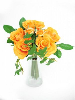 Artificial - Rose Pippa Bundle - Orange