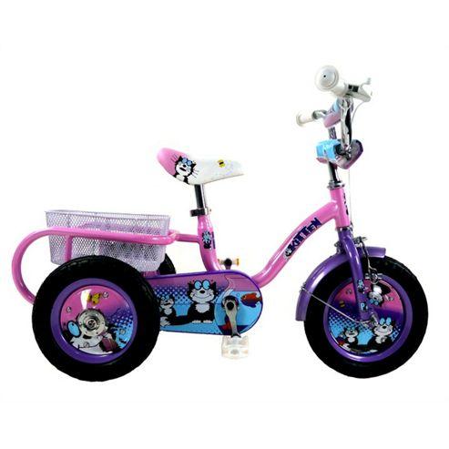 "Concept Pedal Pals Kitten 12"" Wheel Trike, Purple/Pink"