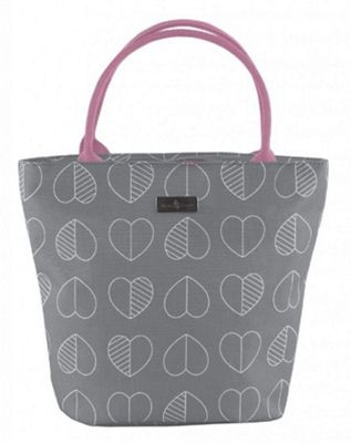 Beau & Ellliot Insulated Lunch Tote Bag, Confetti Outline Slate