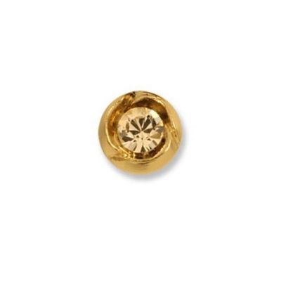 Impex Swarovski Gold Stone Round Button 10mm