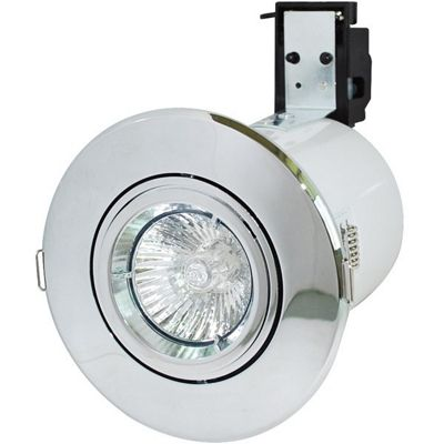 Robus GU/GZ10 Directional Fire Rated Downlight - Chrome (RF208-03)