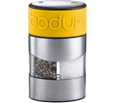 Bodum Twin Yellow Salt and Pepper Grinders