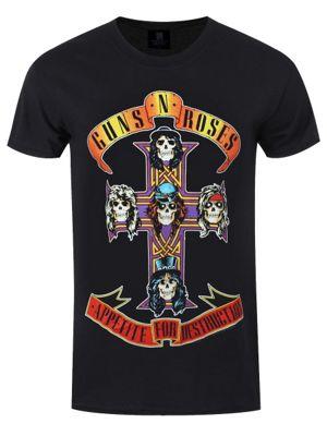 Guns N' Roses Appetite For Destruction Men's T-shirt, Black.