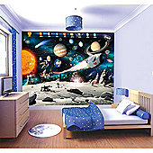 Walltastic Space Adventure Wall Mural 8 ft x 10 ft