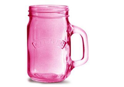 Kilner Handled Drinking Jar 400ml (Pink)