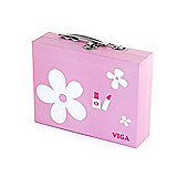 Viga Beauty Case With Wooden Cosmetics