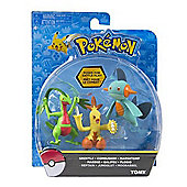 Pokemon Action Pose Figure 3-Pack. Ivysaur, Charmeleon and Wartortle