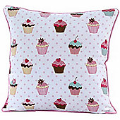 Homescapes Cotton Cup Cakes Scatter Cushion, 30 x 30 cm