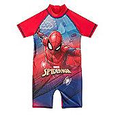 Marvel Comics Boys Surf Suit - Red & Blue