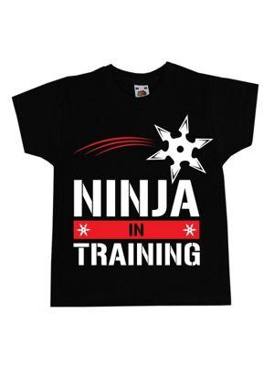 Ninja In Training Black Kids T-Shirt