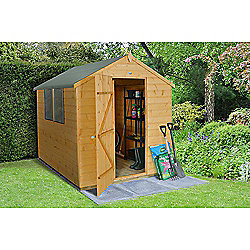 Forest Garden Shiplap Dip Treated 8x6 Apex Shed