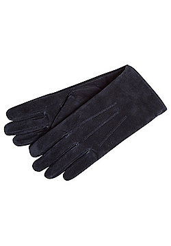 """F&F Signature Suede Gloves with Thinsulate""""™ - Navy"""