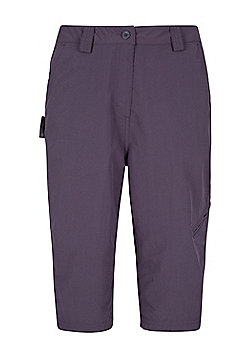 Mountain Warehouse Womens Lightweight Explore Long Shorts with Multiple Pockets - Purple