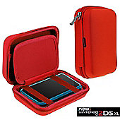 Navitech Red Premium Travel Hard Carry Case Cover Sleeve For The Nintendo 2DS XL