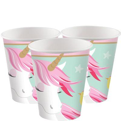 Magical Unicorn Paper Cups - 266ml