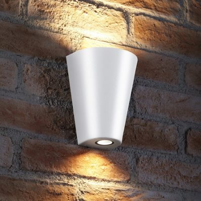 Auraglow 14w Indoor / Outdoor Double Up & Down Wall Light - White - Warm White