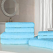 Highams Luxury Egyptian Cotton Towel Bale 7 Piece - Soft blue