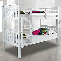 Happy Beds Atlantis Wood Kids Bunk Bed With 2 Memory Foam Mattresses