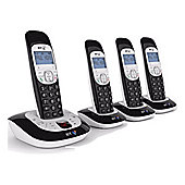 British Telecom 3550-Quad home phone with answering machine Quad pack