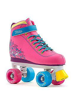 SFR Vision II Tropical Kids Quad Roller Skates - Pink