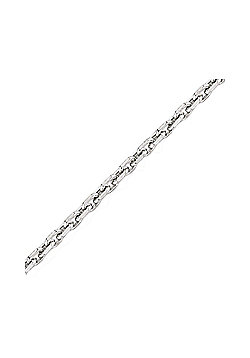 Rhodium-Coated Sterling Silver Chain