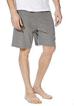 F&F 2 Pack of Marl Lounge Shorts - Grey marl
