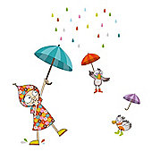 Barnabou Serie Golo Childs Kids Wall Sticker Dancing in the Rain STI125