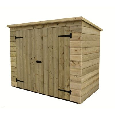 7ft x 3ft Pressure Treated T&G Bike Store + Double Doors