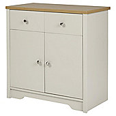 Somerton Sideboard - Grey / Oak Effect