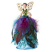 Peacock Fairy Christmas Tree Topper - Small