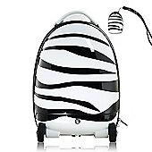 RideonToys4u Battery Powered 2.4G Remote Control Walking Suitcase Zebra