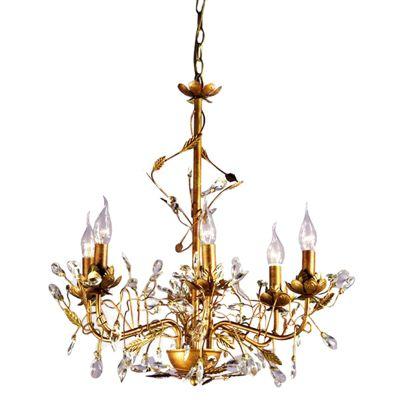 Etienne Antique Gold Chandelier - 6 Arm