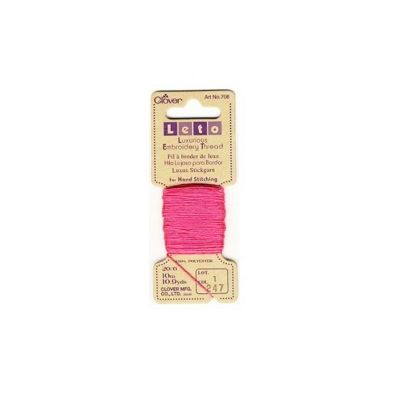 Clover Hot Pink Luxurious Embroidery Threads