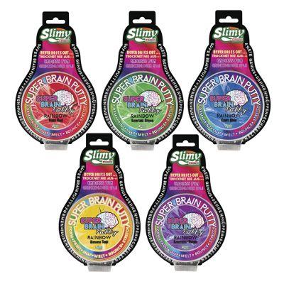 Slimy Super Brain Putty Rainbow Series 75g Tin - Pack of 5