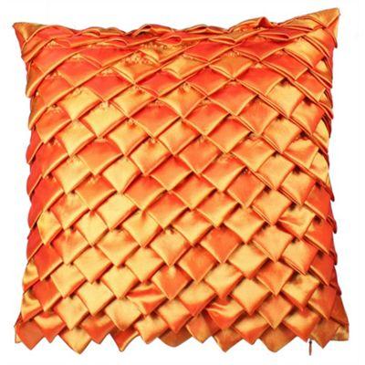 Satin Folds Cushion - Terracotta