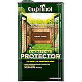 Cuprinol Shed and Fence Protector - Golden Brown - 5 Litre