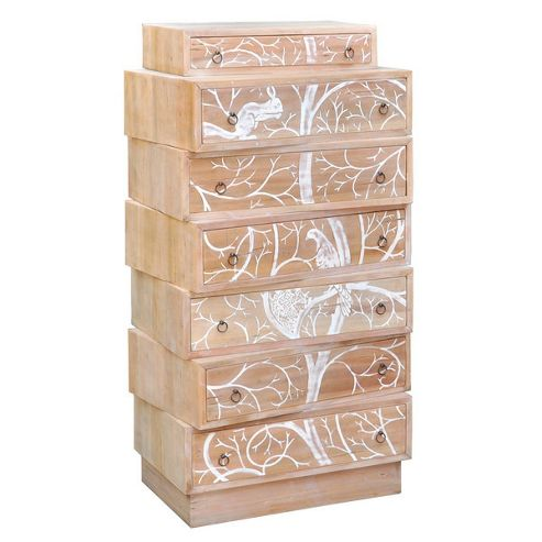 Lock stock and barrel Shell Stacked Flight Chest of 7 Drawers