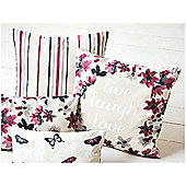 Dreams n Drapes Sakura Cranberry Cushion Cover - 43x43cm