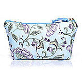 Small Blue Floral Print Make Up Bag