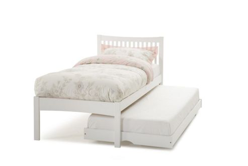 Serene Furnishings Mya Single Guest Bed Frame - Opal White