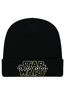 Star Wars The Force Awakens Black Beanie - Black