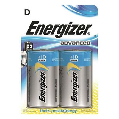 Energizer Advanced D 2pk